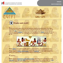 Egyptian civilization - Daily life - Trades and crafts