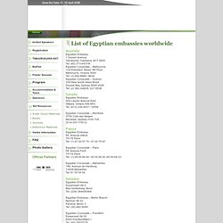 List of Egyptian embassies worldwide