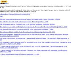 Egyptian Myths and Mysteries 1908