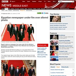 Egyptian newspaper under fire over altered photo