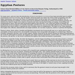 EGYPTIAN POSTURES