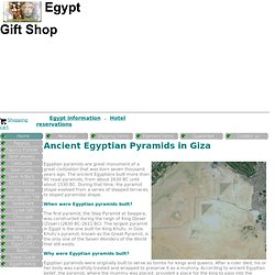 Egyptian pyramids facts and information