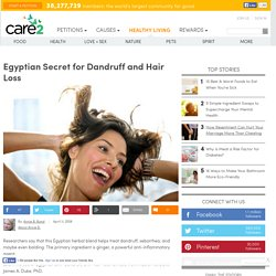 Egyptian Secret for Dandruff and Hair Loss
