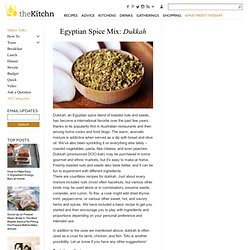 Egyptian Spice Mix: Dukkah