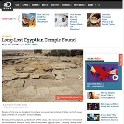 Long-Lost Egyptian Temple Found
