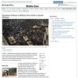 Egypt Protests Continue as Government Resigns