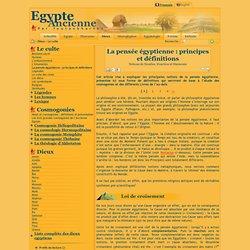 La pensée égyptienneancienne: principes et définitions : Notions de Nombre, Fonction et Harmonie