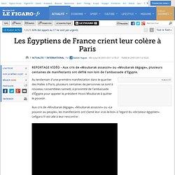 International : Les Égyptiens de France crient leur colère à Paris