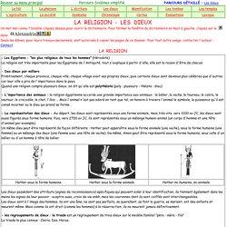 Les dieux egyptiens-parcours simplifi