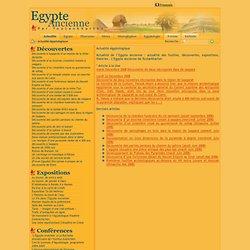 Actualité égyptologique - L'Egypte Ancienne de Toutankharton