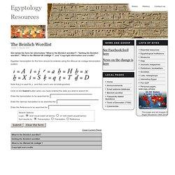 Egyptology Resources The Beinlich Wordlist