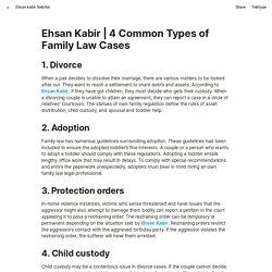Ehsan Kabir: 4 Common Types of Family Law Cases - Ehsan kabir solicitor - Medium