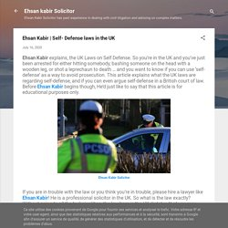 Do You Know Self- Defense laws in the UK