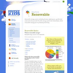 EIA Energy Kids - Renewable