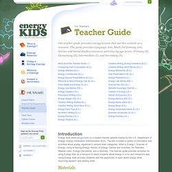 Energy Kids - Teacher Guide