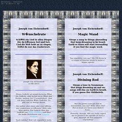 Joseph von Eichendorff:  Wünschelrute > Magic Wand  (Translation / Uebersetzung)