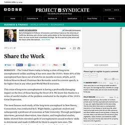 """Share the Work"" by Barry Eichengreen"
