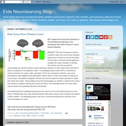 Eide Neurolearning Blog