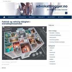 Faktisk og rettslig rådighet i eierseksjonssameier – Advokatblogger.no