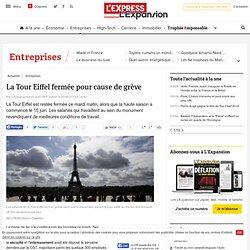 La Tour Eiffel fermée pour cause de grève
