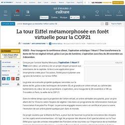 La tour Eiffel métamorphosée en forêt virtuelle pour la COP21