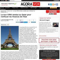 La tour Eiffel vendue au Qatar pour renflouer les finances de l'Etat