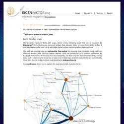 Eigenfactor: Maps of Science