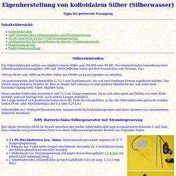 Eigenherstellung von Silberwasser (Kolloidales Silber)