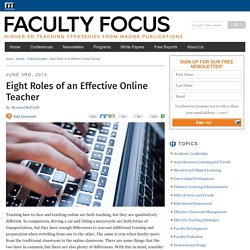 Eight Roles of an Effective Online Teacher