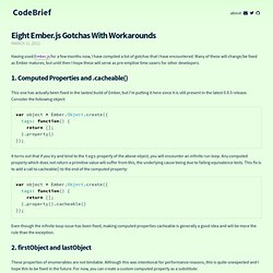 Eight Ember.js Gotchas With Workarounds - CodeBrief