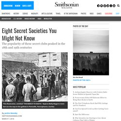 Eight Secret Societies You Might Not Know
