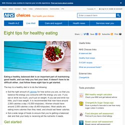 Eight tips for healthy eating - Live Well