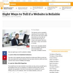 Eight Ways to Tell if a Website Is Reliable