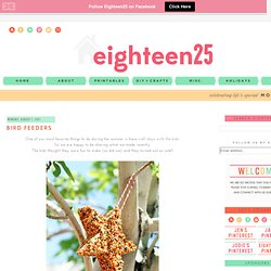 eighteen25: Bird Feeders