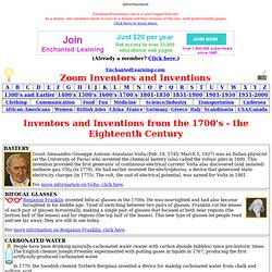 Eighteenth Century Inventors and Inventions: EnchantedLearning.com