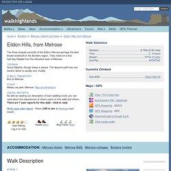 Eildon Hills, from Melrose