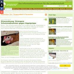 PROPLANTA 19/11/16 Eilverordnung: Strengere Schutzmaßnahmen gegen Vogelgrippe