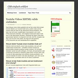 Youtube Videos XHTML valide einbinden