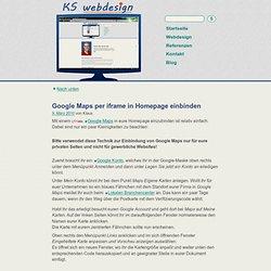 Google Maps per iframe in Homepage einbinden