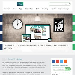 Social-Media-Feeds einbinden - direkt in Ihre WordPress-Webseite
