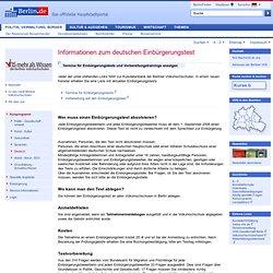 Informationen zum deutschen Einbürgerungstest