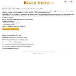 Einbürgerungstest: Quiz 310 Fragen und Antworten - Deutsch-Tuerkisch.net