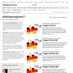 Einbürgerungstest - Könnten Sie Deutscher werden?