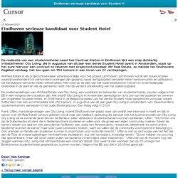 Eindhoven serieuze kandidaat voor Student Hotel