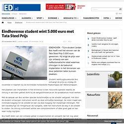 Eindhovense student wint 5.000 euro met Tata Steel Prijs