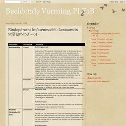 Beeldende Vorming PLT1B: Eindopdracht lesfasenmodel : Lantaarn in Stijl (groep 5 – 6)