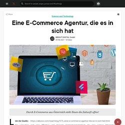 Eine E-Commerce Agentur, die es in sich hat