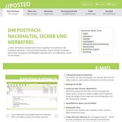 E-Mail grün, sicher, einfach und werbefrei - posteo.de - Leistungen