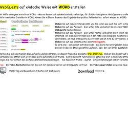Webquests mit WORD erstellen