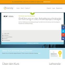 Einführung Arbeitspsychologie - Offener Onlinekurs